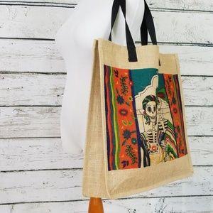 el paso saddleblanket Bags - Day of the Dead / Halloween Tote Bag
